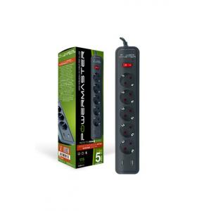 Powermaster 17565 2 Usb Çıkışlı 5'Li 2 Metre Kablolu Akım Korumalı Priz