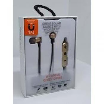 Hafıza Kartı Takılabilir Metal Kulakiçi Bluetooth Kulaklık TF4