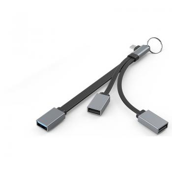 AIRSKY HC-06 TYPE-C TO USB 2.0 - 3.0 3 in 1 HUB