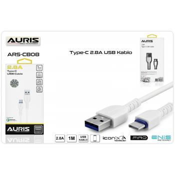AURİS TYPE C USB KABLO 2.8A  ARS-CB08