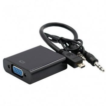 Hiper HC20 Micro HDMI to VGA+Audio Converter
