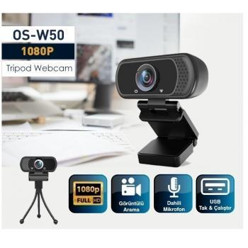 OS-W50 2MP 1080P FULL HD MIKROFONLU WEBCAM