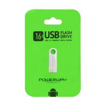 POWERWAY 16 GB USB 2.0 METAL FLASH BELLEK
