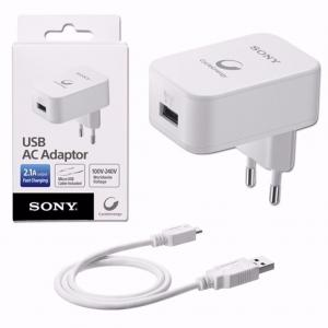 Sony CP-AD2 Orjinal 1.5M 2.1A Seyehat Şarj Aleti Beyaz