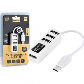 TYPE C USB 3.1 ÇOKLAYICI ADAPTÖR ÇEVİRİCİ 4 PORT