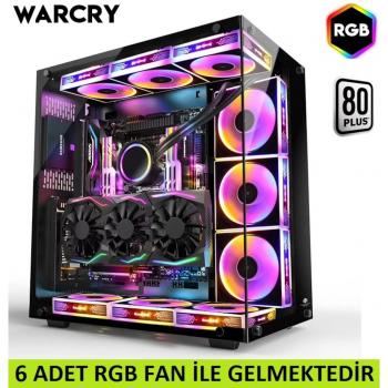 GAMEPOWER WARCRY GAMING MID ATX KASA 6 ARGB FAN+RGB MODÜL GAMER KASA