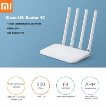 XİAOMİ Mi Home Wifi Router 4C 64MB RAM2.4G 300Mbps Smart Wireless DVB4209CN